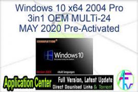 Windows 10 Pro VL X64 OEM ESD NORDiC MAY 2020 {Gen2}